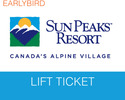 Sun Peaks-Lift Tickets excursion-Sun Peaks Earlybird Lift Ticket Book and Pay by 31 Aug