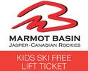 Jasper-Lift Tickets tour-Marmot Basin Kids Ski Free Lift Pass and Ski Shuttle